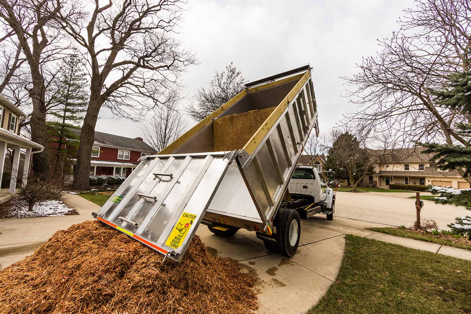 Landscaping Bark Delivery : Wheaton mulch s new delivery truck inc